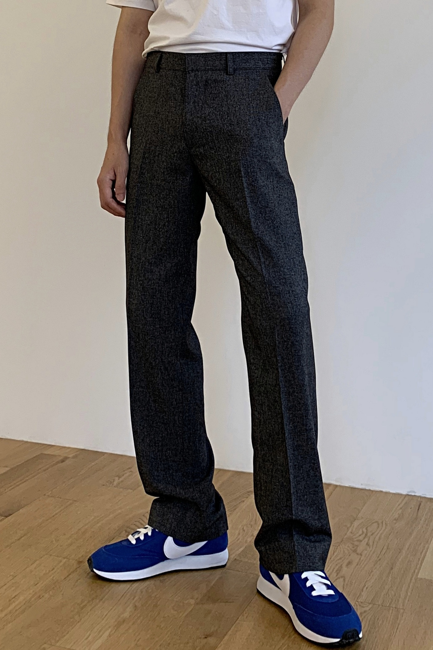 Ssa Brushed Semi Wide Slacks