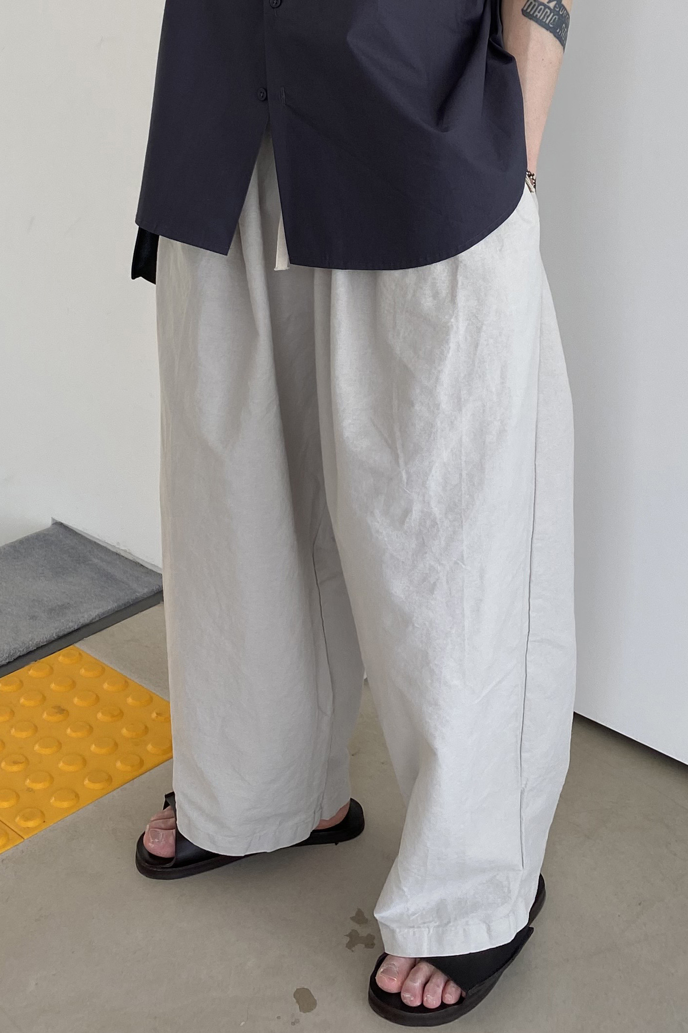Mc Washed Wide Pants