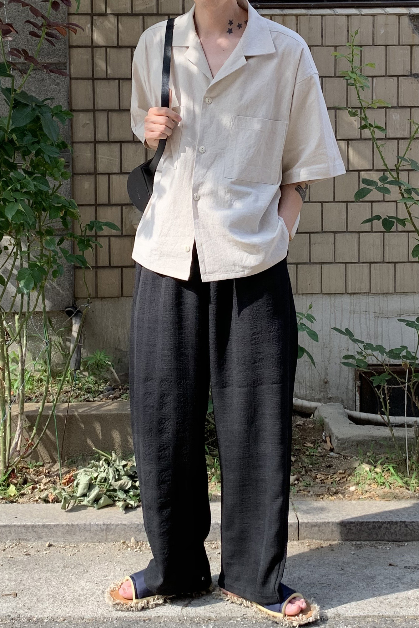 Mrp Overcast Check Wide Pants